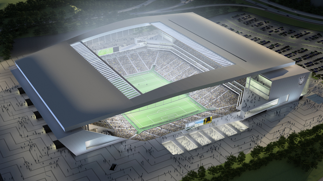 Mondiali 2014: Arredi e rivestimento Arena Corinthians di San Paolo