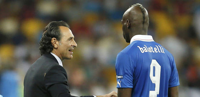 Mondiali 2014 Italia: Prandelli preoccupato da Balotelli, pronta alternativa Cassano