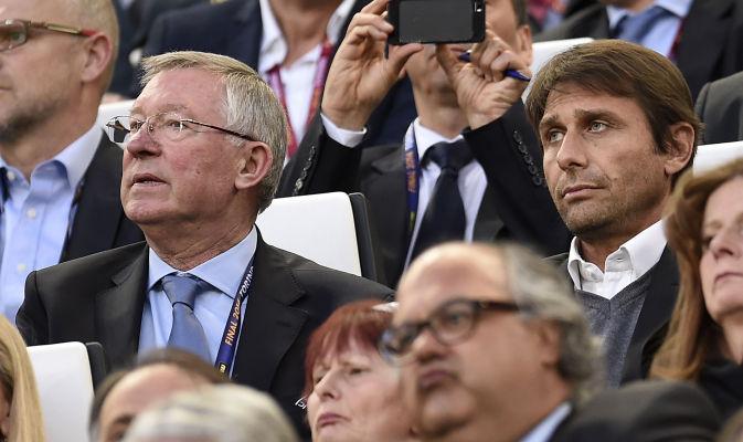 Conte e Ferguson insieme allo stadio nella finale di Europa League
