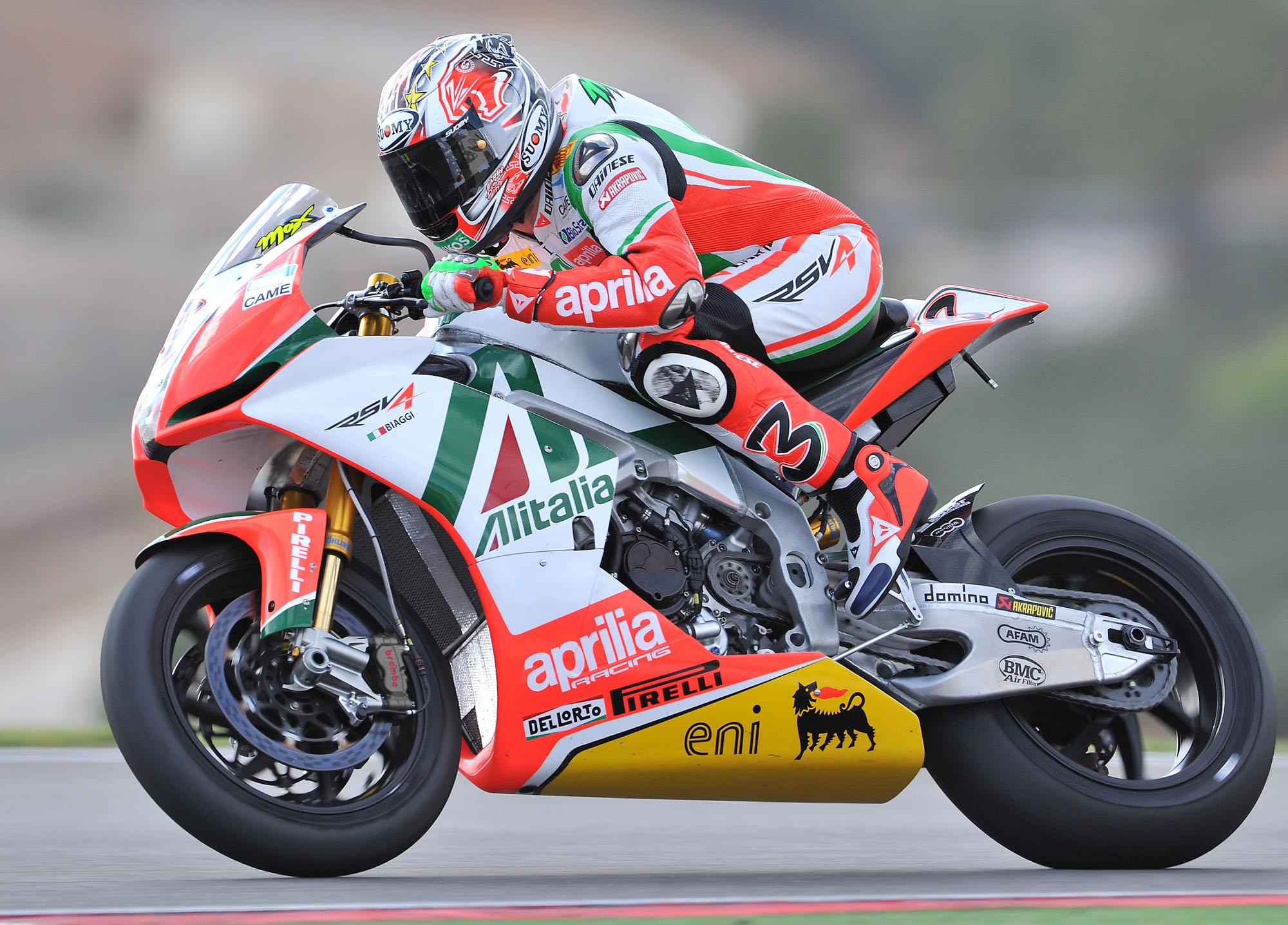 Aprilia pronta al rientro in MotoGp nel 2016 e chiama Biaggi per i primi test