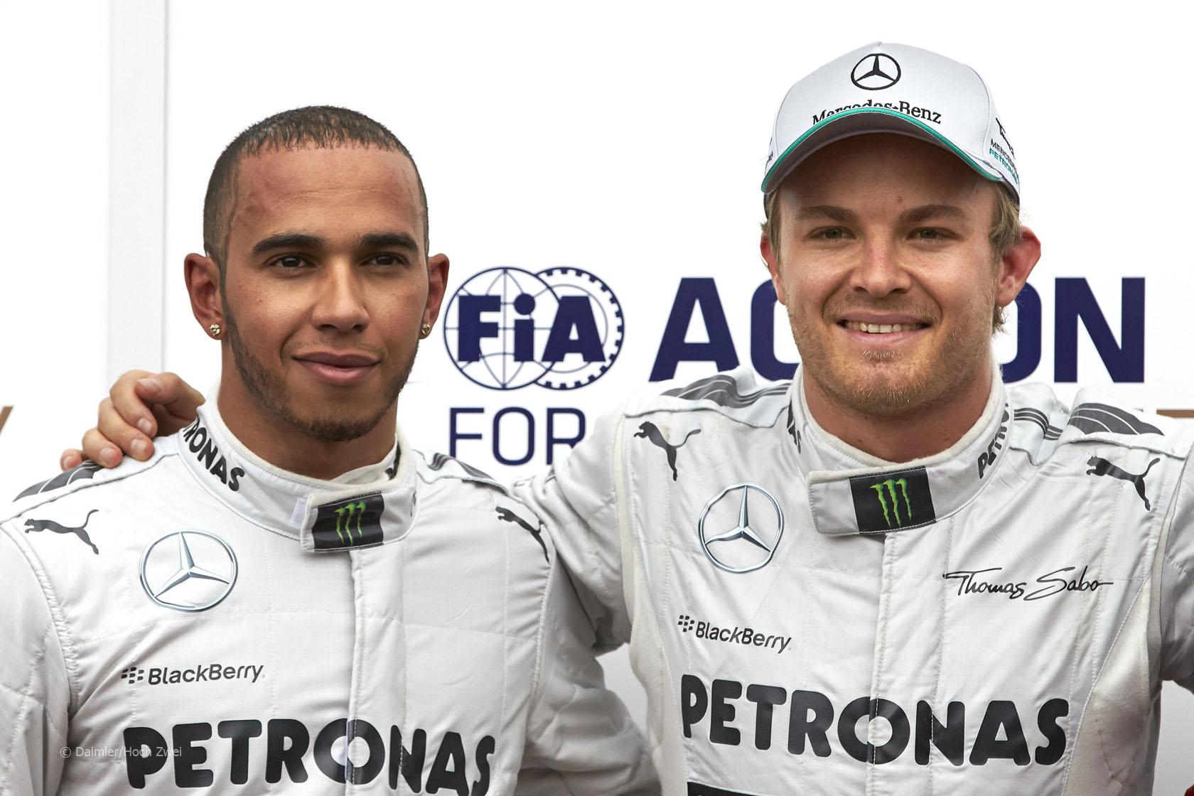 Formula 1: Unione d'intenti tra Hamilton e Rosberg