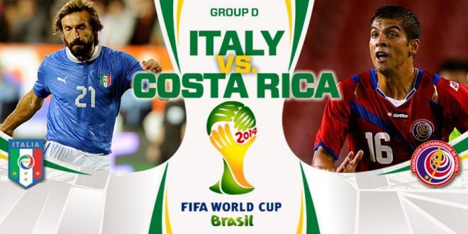 Italia contro Costa Rica: Paletta fuori