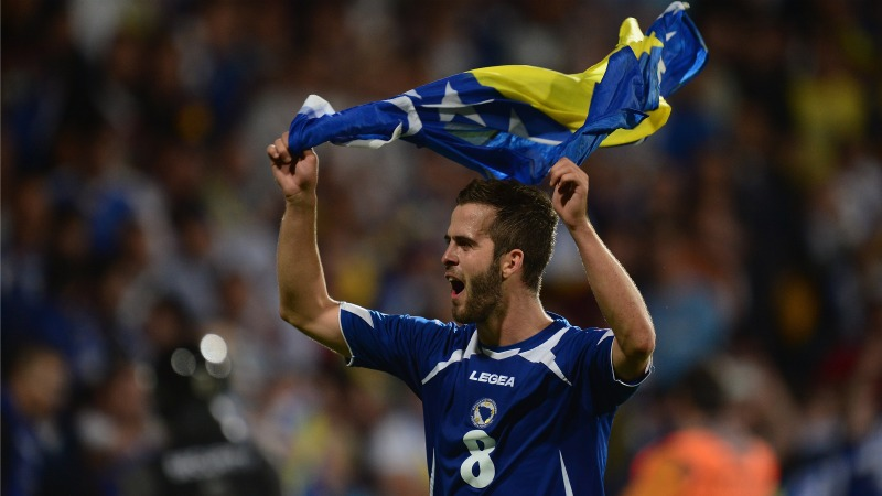 Bosnia, Pjanic: i Mondiali 2014 di Brasile sono un'emozione fortissima