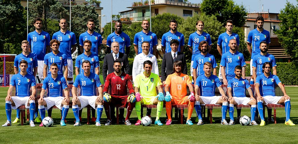 Staff tecnico dell'Italia in Brasile ai Mondiali 2014