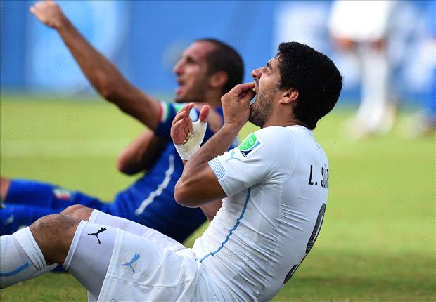 Mondiali, Suarez: 9 giornate di squalifica e 4 mesi di stop