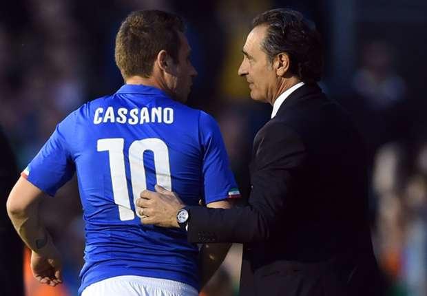 Cassano scalpita per giocare contro il Costa Rica