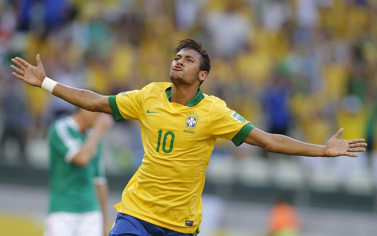 Brasile trionfa con Neymar, Fred e Fernandinho