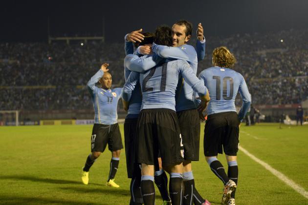Uruguay sconfigge la Slovenia 2-0