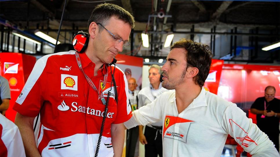 Ferrari, Allison punta tutto su Fernando Alonso