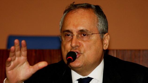 Italia: Lotito prende le difese di Tavecchio