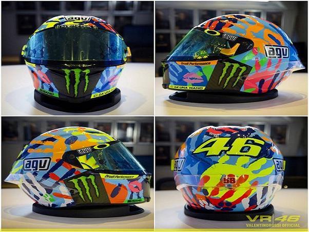 MotoGP: Misano, nuovo casco per Valentino Rossi