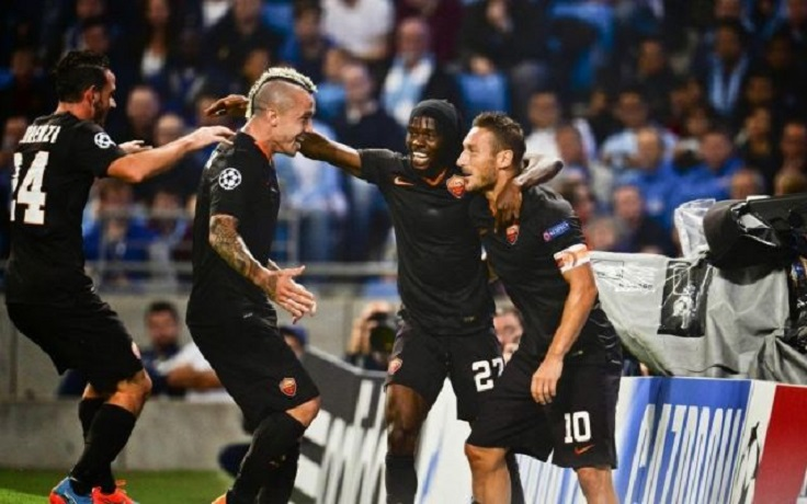 Champions League: la Roma strappa un ottimo 1-1 a Manchester