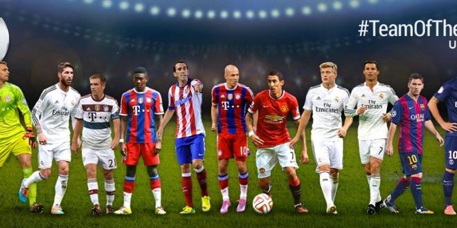 Uefa.com, svelato il Dream Team 2014