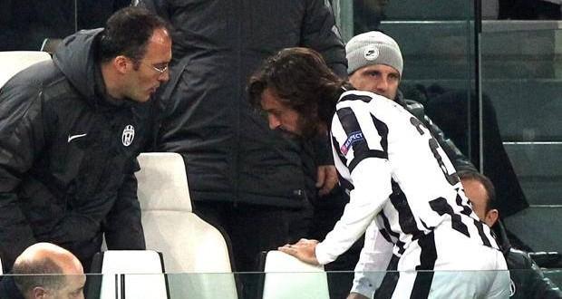 Juventus, tegola Pirlo: salta Roma e Dortmund