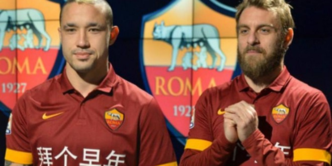 È una Roma cinese: domenica maglie speciali