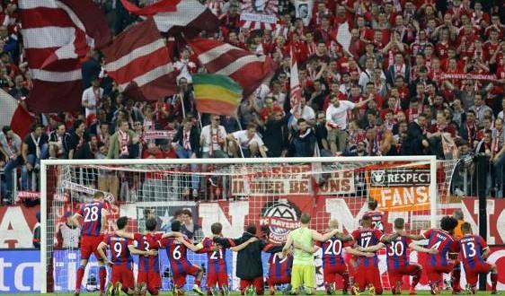 Champions: altro che calcio, il Bayern gioca a tennis!