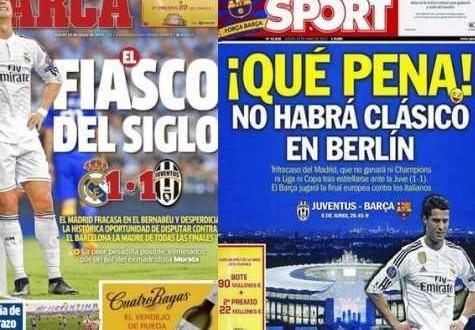 """Champions, stampa spagnola:""""Real, un triplete di fallimenti"""""""