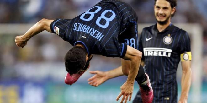 Lazio-Inter 1-2, capriola di Hernanes per l'Europa