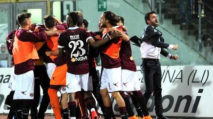 Serie B: Livorno-Entella 2-1, i toscani si rilanciano per i playoff