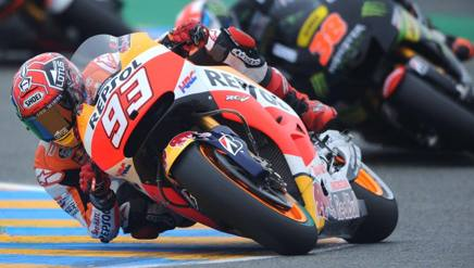 Moto GP a Le Mans, nel warm up domina Marquez