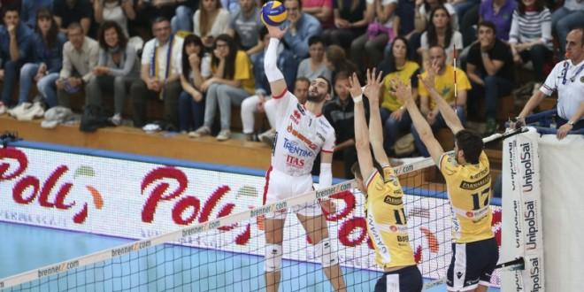 Volley maschile, gara1 scudetto: strepitosa Trento, 3-2 in rimonta su Modena