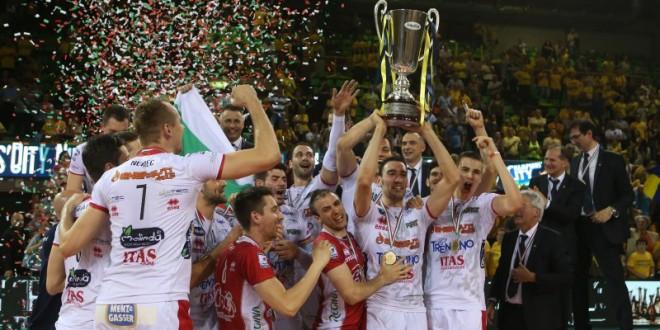 Volley, Trento campione d'Italia, Modena annientata 3-0 in gara-4