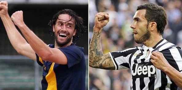 Verona-Juventus: Tevez contro Toni