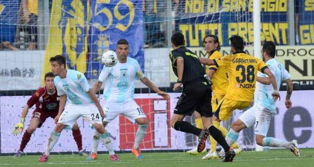 Serie B playout, Virtus Entella-Modena 2-2, canarini si avvicinano alla salvezza