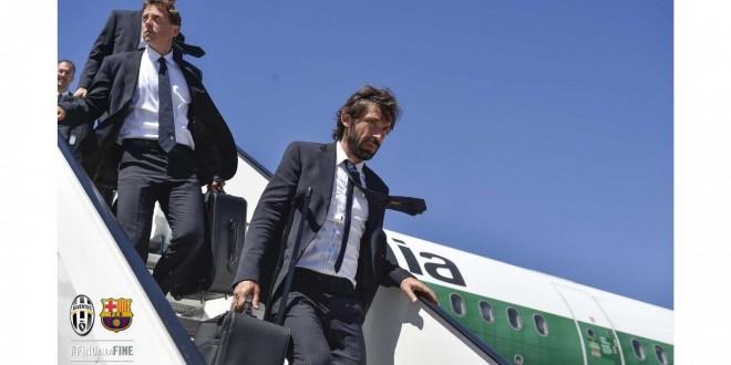 Champions, Juventus-Barcellona -1: le squadre giunte a Berlino, ora conferenza stampa e rifinitura