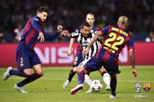 Un momento di Juventus-Barcellona