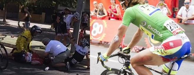 Vuelta 2015, tra cadute accidentali e moto impazzite: il punto della situazione