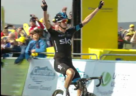 Tour of Britain 2015, Poels si aggiudica l'arrivo in salita
