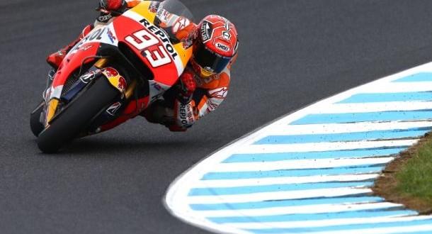 Moto GP, Phillip Island: Marquez il più veloce, Lorenzo 3°; Rossi solo 7°