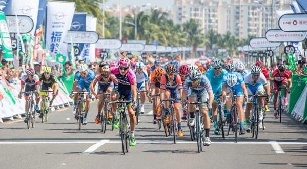 Tour of Hainan 2015, 3^ tappa: Modolo non sbaglia