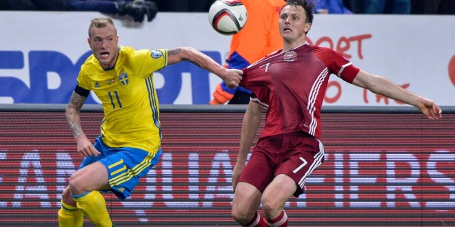 Euro 2016, spareggi: Ucraina-Slovenia 2-0; Svezia-Danimarca 2-1