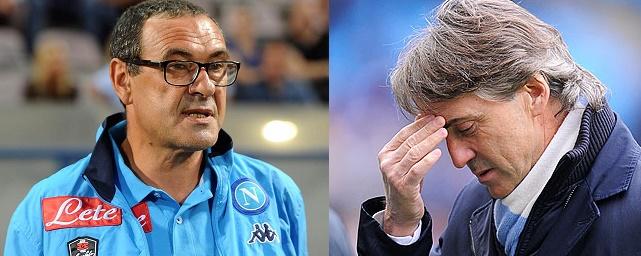 Serie A, Napoli in testa: Sarri predica prudenza, Mancini infastidito