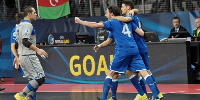Euro Futsal 2016, Italia buona la prima: 3-0 all'Azerbaijan