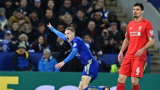 Premier League: Vardy pazzesco! Affossa il Liverpool, Ranieri sempre più 1°
