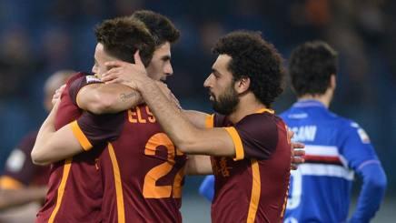 Serie A, 24ᴬ: la Roma si avvicina al 3° posto, 2-1 alla Samp. Atalanta-Empoli 0-0