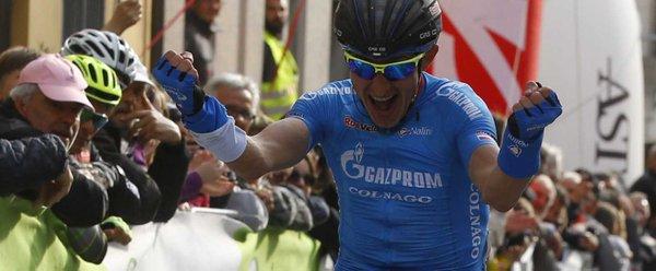 Giro dell'Appennino 2016, nuova gioia Gazprom: primo Firsanov