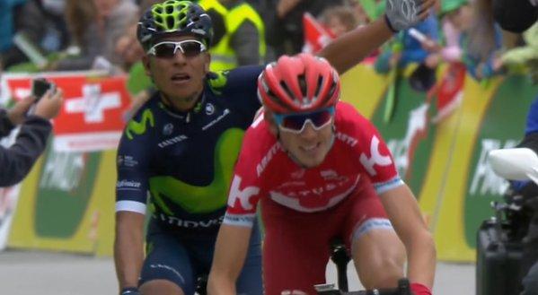 Giro di Romandia 2016, a Morgins la spunta Quintana