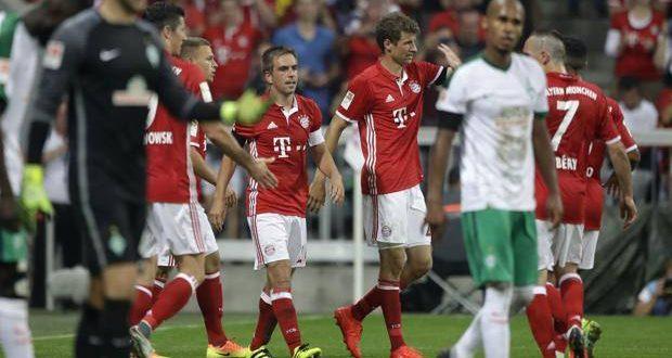 Bundesliga 1ª giornata, Bayern già a valanga: 6-0 al Werder, Lewa ne fa subito tre
