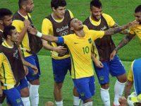 Neymar oro olimpico col Brasile a Rio 2016, foto Getty
