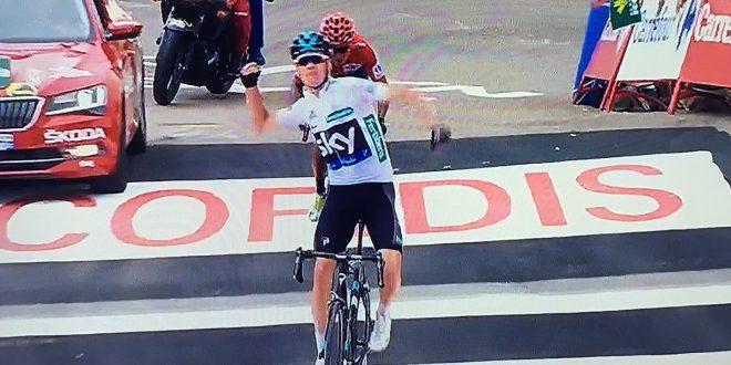 Vuelta a Espana 2016, Froome c'è: primo a Peña Cabarga davanti a Quintana