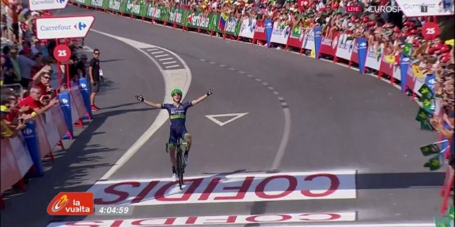 Vuelta a Espana 2016, splendido assolo di Simon Yates