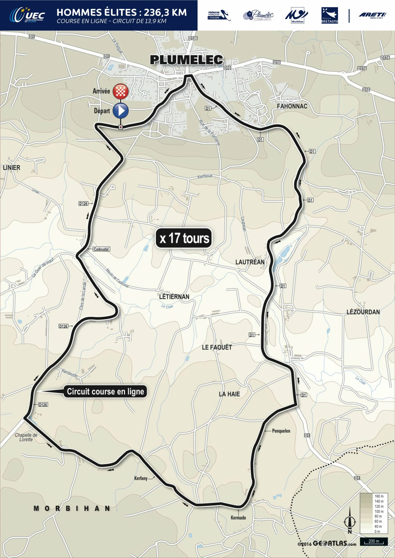 10_EuroRoad16_Plan_Course_Route_Hommes_Elites_RR_Men_Elite-1