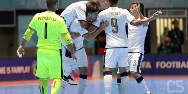 Mondiali calcio a 5, buona anche la seconda per l'Italia: 5-1 al Guatemala
