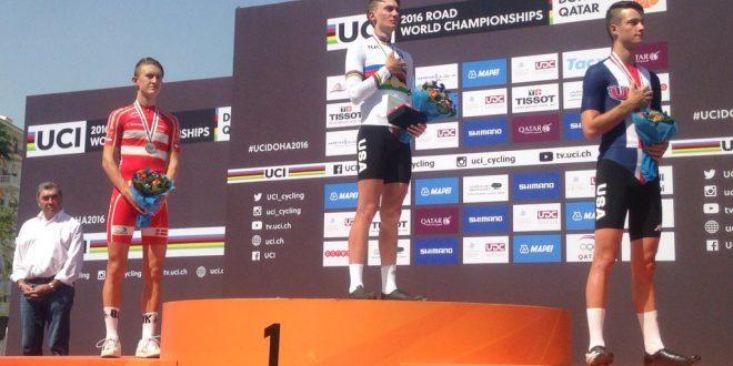 Mondiali Doha 2016, McNulty oro nella crono juniores. Lontani gli azzurri