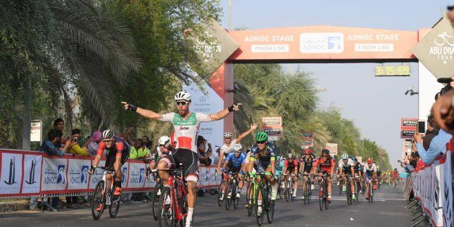 Abu Dhabi Tour 2016, sventola il tricolore: Nizzolo vince la 1^ tappa