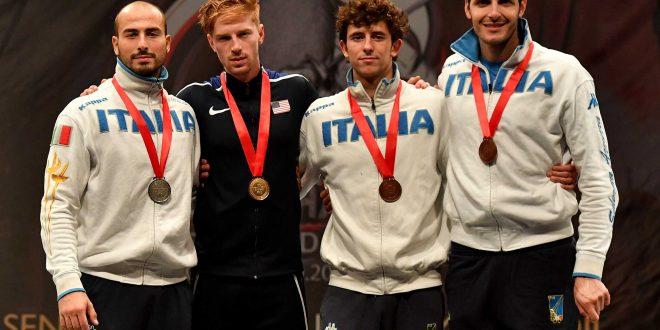 Scherma, CDM fioretto: tre azzurri sul podio a Il Cairo, ma vince Imboden